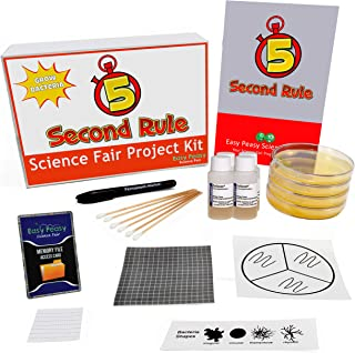 The 5 Second Rule Science Fair Project Kit – Grow Bacteria - Top Science Learning Kit