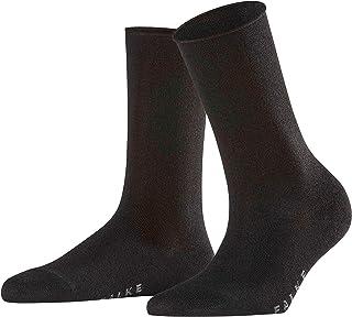 FALKE Socken Shiny Viskose Damen schwarz grau viele weitere Farben verstärkte Damensocken ohne Muster atmungsaktiv dünn und einfarbig mit Rollrand 1 Paar