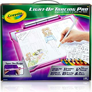 Crayola Light-up Tracing Pad - Pink, Coloring Board for...