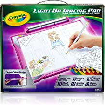 CRAYOLA 04-0908 Light Up Tracing Pad Light Board, Pink, Multi