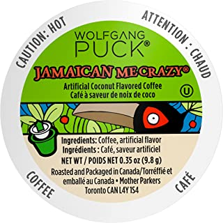 Wolfgang Puck Coffee Single Serve Capsules, Jamaican Me Crazy, Medium Roast, Compatible with Keurig K-Cup Brewers, 18 Count