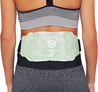 Lower Back Ice & Heat Pack | Microwaveable, Freezable and Reusable | Hot/Cold Therapy Gel Bead Wrap | Ideal for Lower Back & Lumbar Pain Relief, Swelling, Soreness & Sports Injuries