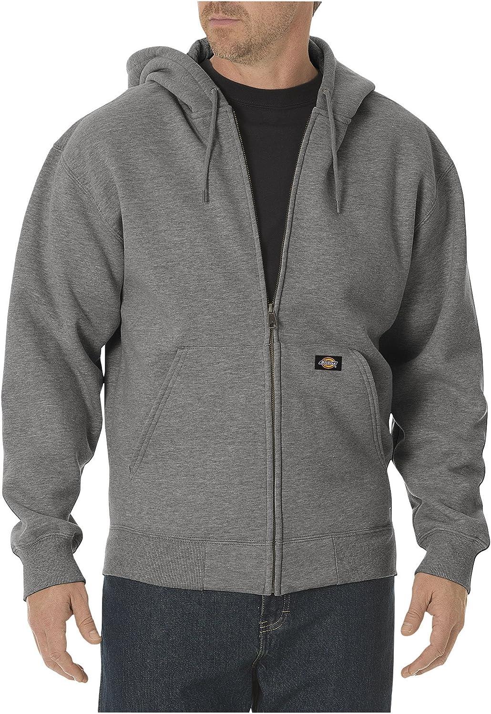 Dickies Men's Big-Tall Midweight Fleece Full Zip Hooded Sweatshirt