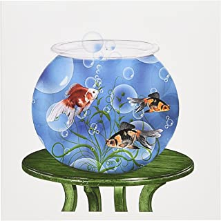 3dRose Goldfish in a Bowl on a Small Table for Persian New Year - Greeting Cards, 6 x 6 inches, set of 12 (gc_101832_2)