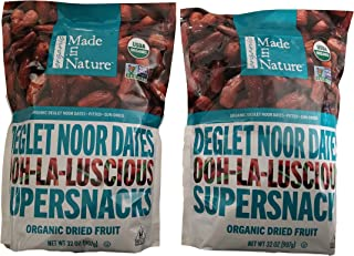 Made in Nature Organic Sun-Dried Deglet Noor Dates 32 oz NEW PACKAGING (2 pack)