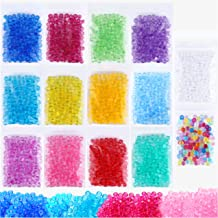 Fishbowl Beads Slime Fish Bowl - 14 Pack Vase Filler Beads 0.28 inch Plastic Slushy Fish Balls Crunchy Slime Slushee Fishballs Kit for DIY Homemade Arts Crafts Decoration Slushie Clear, Blue, Colored