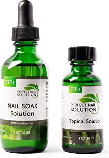 Toenail Fungus Treatment - Natural 2-Step Topical Anti-Fungal Solution with Oregano and Tea Tree Oil - Removes Yellow from...
