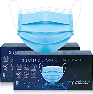 Face Masks 100 pac Disposable Face Mask