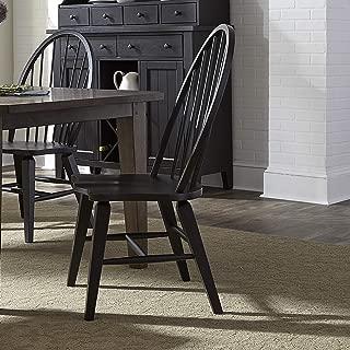 Liberty Furniture Industries 482-C1000S Hearthstone Windsor Back Side Chair, W25 x D25 x H41, Black