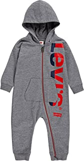 Levi's baby-girls Long Sleeve Hooded Coverall Jumpsuit