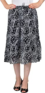COTTON BREEZE Women's A-line Skirt (Black)