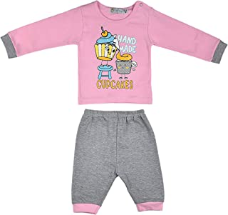 ALM Kids Baby Rompers two Piece Variations Blue and Pink combination & Grey and Pink combination for Baby Boy Baby Girl Fr...