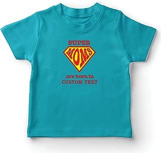 lepni.me Kids T-Shirt Custom Birthday Super Moms, Personalized Gift Idea