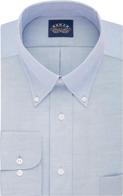 Eagle Men's Dress Shirt Regular Fit Non Iron Stretch Collar Solid