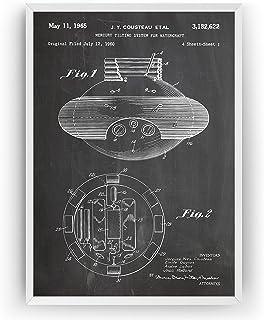 Mercury Tilting System 1965 Patent Print - Jacques Cousteau Scuba Diving Póster Con Diseños Patentes Decoración de Hogar I...