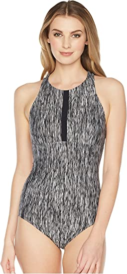 Nike Rush Heather High Neck One-Piece