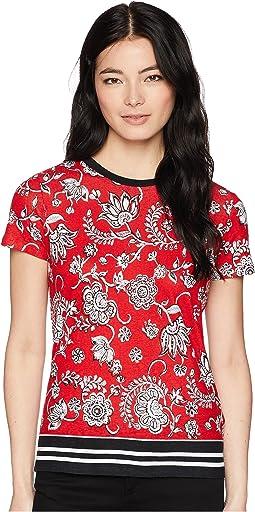 Petite Linen-Blend-Jersey T-Shirt