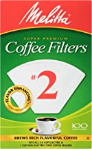Melitta #2 Cone Coffee Filters, White, 100 Count