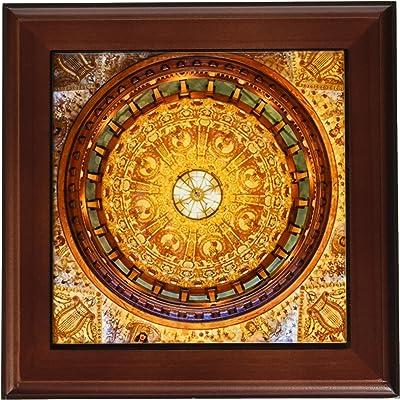 8 by 8-Inch 3dRose ft/_45063/_1 State Flag of Florida-Framed Tile Artwork