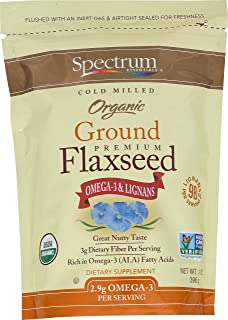 Spectrum Essentials Organic Ground Flaxseed, 14 Ounce (Pack of 4)