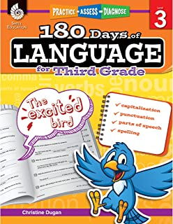 180 Days of Language for Third Grade – Build Grammar Skills and Boost Reading Comprehension Skills with this 3rd Grade Workbook (180 Days of Practice)