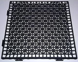 NOVINGRECONS Baldosa PP 30x30cm Negra (Paquete 24 ud.). Suelo Plastico. Suelo Apto para Exteriores o Interiores.
