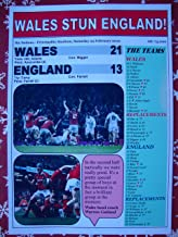 Sports Prints UK Walia 21 Anglia 13-2019 Six Nations - pamiątkowy nadruk