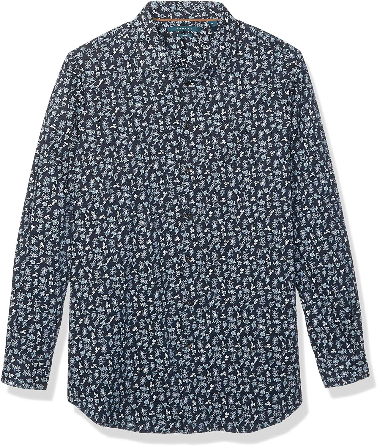 Perry Ellis Men's Big and Tall Floral Print Stretch Long Sleeve Shirt