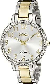 XOXO XO5847 - Reloj analógico de cuarzo de dos tonos para mujer