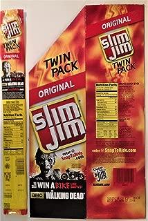 Walking Dead Slim Jim 2014 Store Display and Original Twin Pack Wrapper