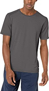 Amazon Essentials Men's Seamless Run Crewneck T-Shirt, Charcoal Heather, Medium