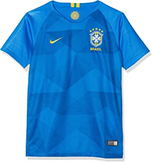 NIKE 2018-2019 Brazil Away Football Shirt (Kids)