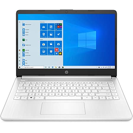 "HP 14s-fq0007ns - Ordenador portátil de 14"" FullHD (3020E, 4GB de RAM, 64GB Emmc, Amd Radeon Integrated Graphics, Windows 10 ) Blanco - teclado QWERTY Español"