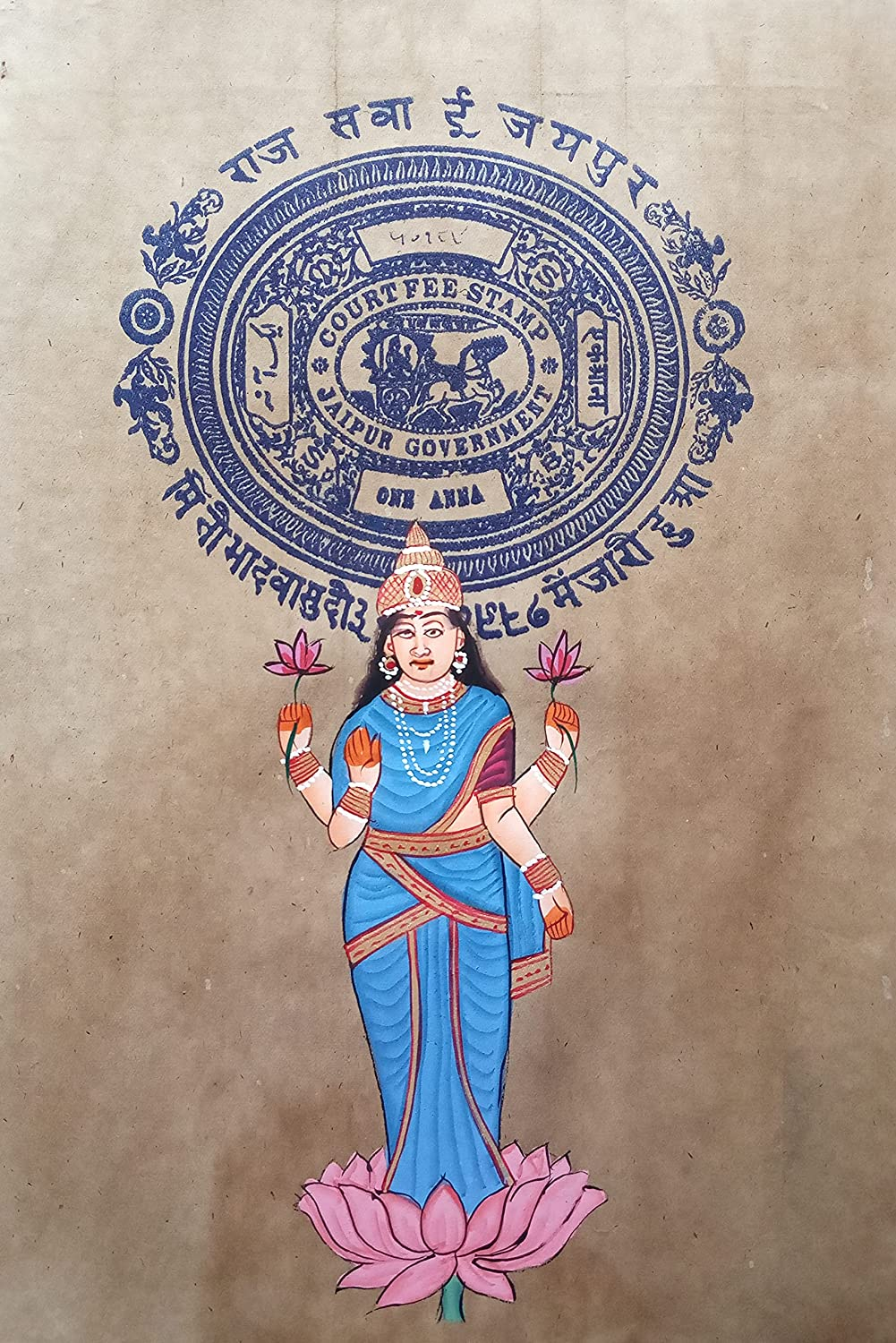 Goddess Lakshmi Religious Painting Miniature Indefinitely Handcrafted On Art Ranking TOP17