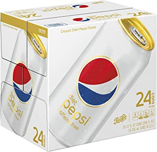 Diet Pepsi, Caffeine Free, 12 ounce Cans, 24 Count