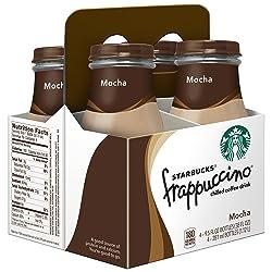 Starbucks Frappuccino, Mocha, Coffee Drink (4 Count, 9.5 Fl Oz Each)