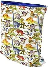 Planet Wise Wet Bag, Medium, Dino Mite Dinosaur (Made in The USA)