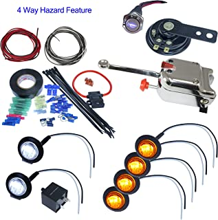 Advance MCS Electronics UTV Heavy Duty Lever Switch Turn Signal Kit with Horn and Hardware (Without License Plate LED, Round LED Lights)