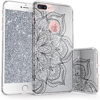真正的彩色手机壳适用于 iPhone 8 & Plus Sparkase Collection v1 For iPhone 8 Plus Mandala - Black on Silver
