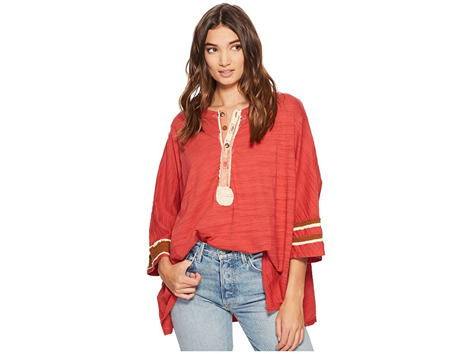 Free People Second Wind Tee (Red) Women