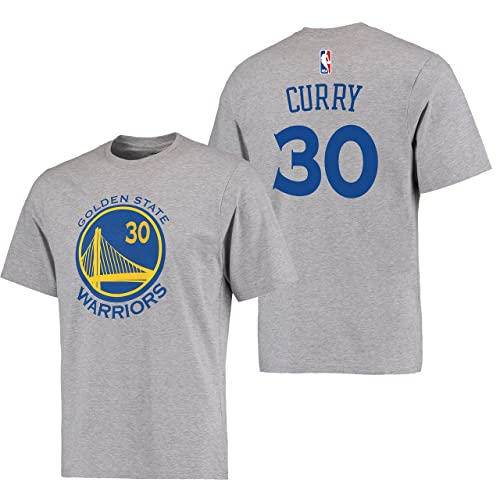 4568ea21f Stephen Curry Golden State Warriors  30 Adidas Gray Name And Number Kids T  Shirt