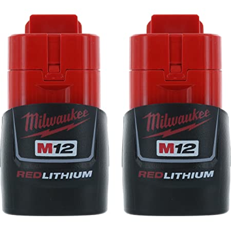 MILWAUKEE 12V Lithium Ion Compact Battery Pack 3Ah M12 Power Tool Batteries 2PK