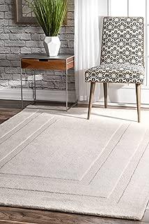 nuLOOM Zamora Handmade Border Wool Rug, 7' 6