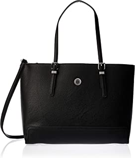 Tommy Hilfiger Honey Med Tote, Black, 42 AW0AW07294
