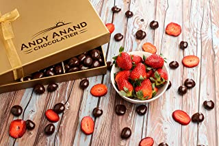 Andy Anand's Chocolates - Premium California Farm fresh Strawberries covered with Rich Dark Chocolate in a Gift Box, All Natural Certified made from Natural Ingredients (1 lbs)