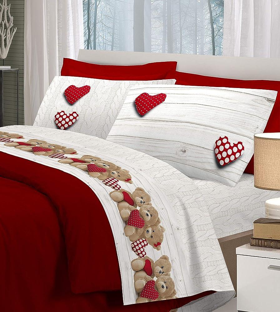 Homelife ,set lenzuola per letto matrimoniale ,in cotone