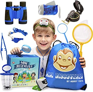 Norsy Toys – Kids Camping Gear - Explorer Kit | Outdoor Exploration Set for Boys & Girls Age 3-12 year old – Perfect Gifts for Your Outdoor Lover Grandkids and Nephew's Birthday, Christmas & Hiking
