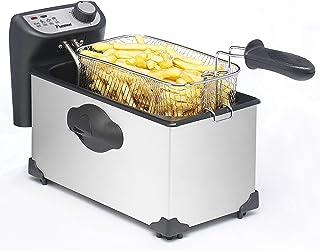 Bestron AF351 Freidora Cool Zone, Para 1 kg de alimentos, 2200 W, Acero Inoxidable