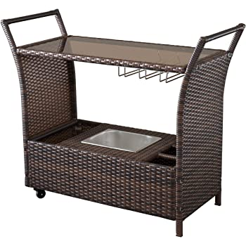 Christopher Knight Home Bahama PE KD Bar Cart, Multibrown
