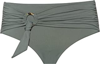 Seafolly Women's Wide Side Bikini Bottom Swimsuit with Sash Belt